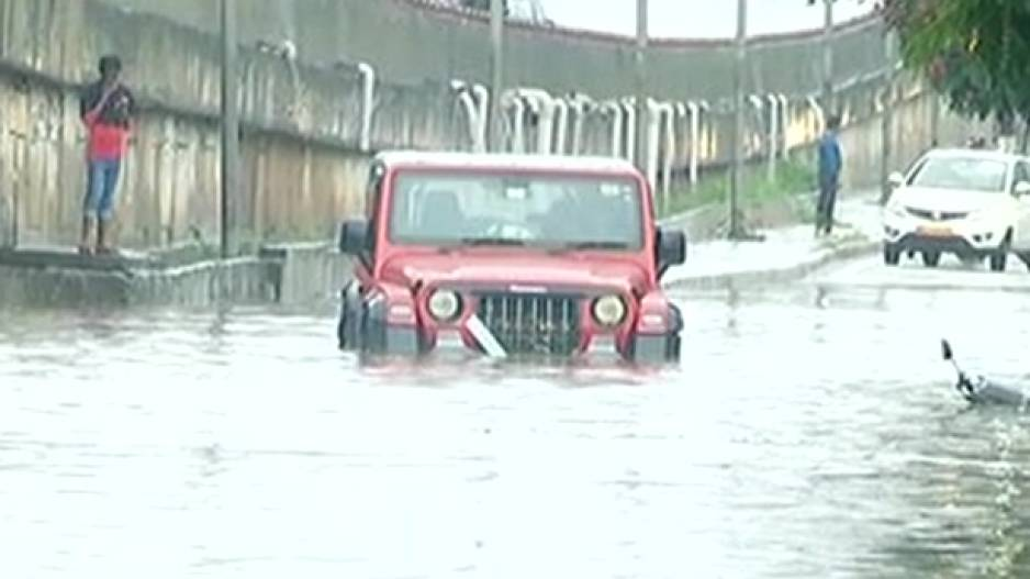 Flooded stretch near Iskcon temple in Bhubaneswar