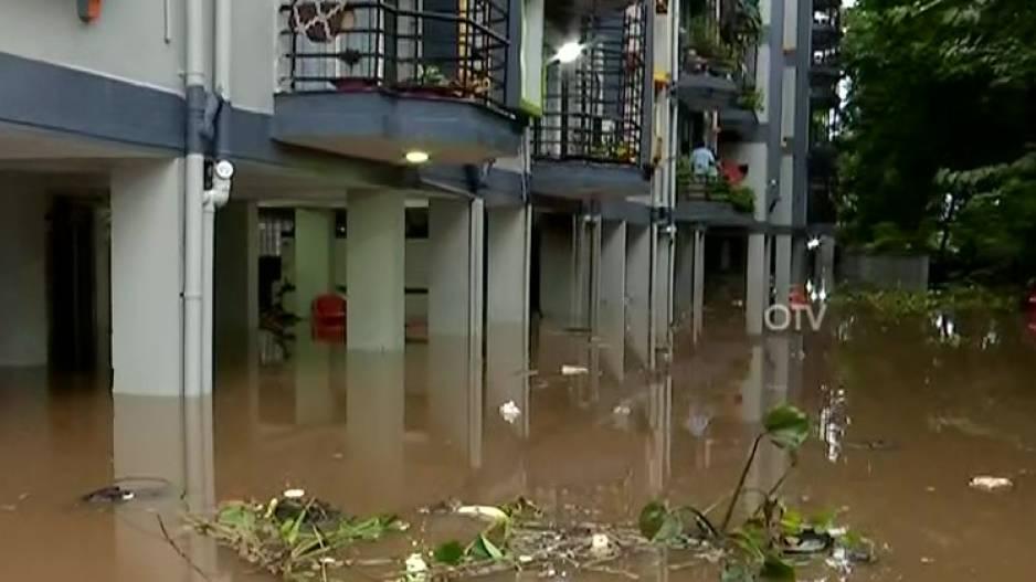 A waterlogged apartment in Bhubaneswar