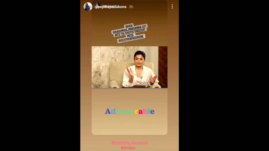 Deepika Padukone's Insta Stories
