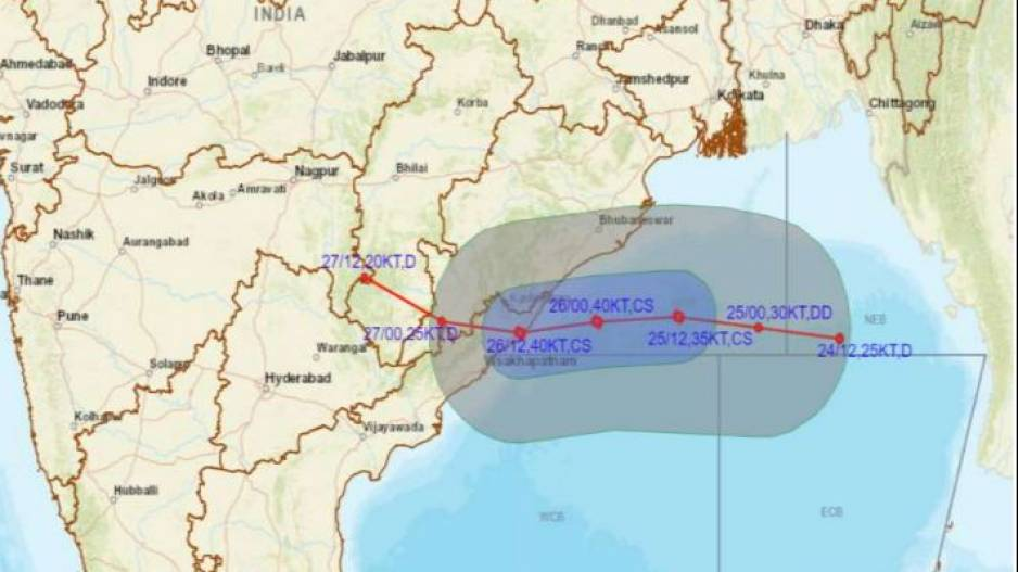 Depression in Bay of Bengal: Track of System