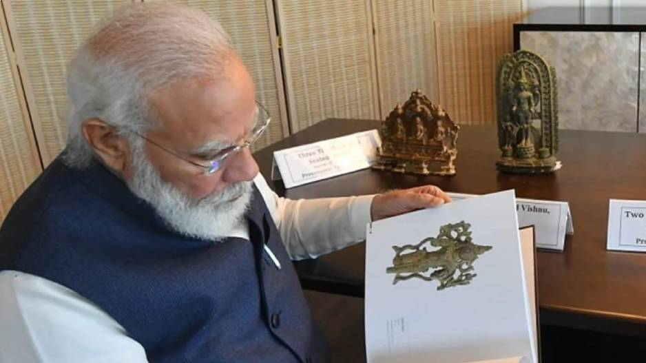 America 157 Artefacts Antiquities Were Handed Over By Us During Pm Narendra Modi