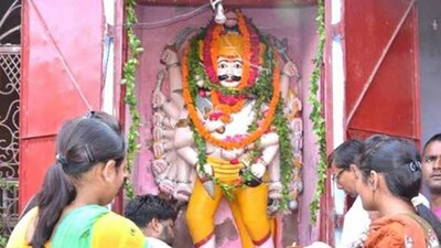 Even as the rest of India prepares to burn effigies of Ravan as a symbolic victory of good over evil devotees are quietly lining up outside a nondescript temple in Kanpur