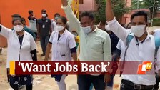 Odisha Chief Secy & 5T Secy Face Protest In Bolangir As Nursing Staff Demand Reinstatement
