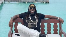 Chris Gayle Gorges On Jumbo Lobster Burger While Chilling Out In Quarantine | WATCH Video