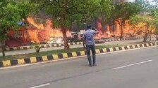Shops Gutted In Massive Fire At Vending Zone In Bhubaneswar