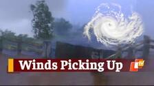 #CycloneYaas: Heavy Wind Witnessed In Odisha's Kendrapara