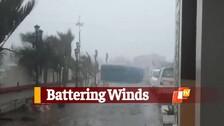 Strong Winds Batter Dhamra As #CycloneYaas Landfall Draws Close