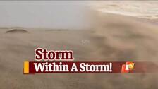 #CycloneYaas: Sandstorm Sweeps Paradip Beach Ahead Of Landfall
