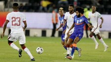 10-Man India Go Down 0-1 To Asian Champs Qatar