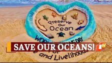 World Ocean Day Special: Sand Sculpture Highlights Importance Of Saving Our Oceans
