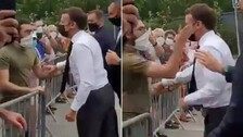 French President Emmanuel Macron Slapped While Greeting Crowd, 2 Detained