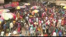 Shoppers In Odisha Throw Covid Norms To Wind On 'Sabitri' Eve