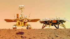 China's Mars Rover Sends 1st Selfie, 'Touring' Group Photos