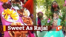 Despite Covid Pandemic Raja Festival Hasn't Lost Its Charm - Watch These Young Girls Singing