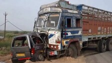 2 Kids Among 9 Killed In A Truck-Car Collision In Gujarat