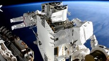Astronauts Complete Installing 1st Solar Arrays Outside ISS