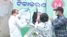 Poster Row: BJP Activists Protest At Vaccination Centres, Tear Up CM Naveen's Pics