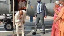 President Ram Nath Kovind Visits His Village, Meets Old Friend