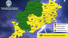 Heavy Rain Alert For 7 Odisha Districts; IMD Issues Yellow Warning