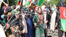 Armed Afghan Women Take To The Streets Against Taliban Militants