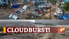 WATCH: Flash Flood Horror In Himachal Pradesh's Dharamshala After Heavy Rainfall