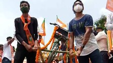 Odisha BJP Hits Street Over 'Corruption' In Mo Cycle Project