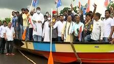 Congress Mocks Odisha Govt With 'Boat Protest' Against Waterlogging In Bhubaneswar   WATCH