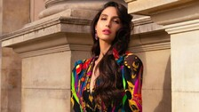 Nora Fatehi Sizzles In Red, Storms Internet