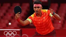 Sharath Kamal Takes A Game Off Great Ma Long Before Bowing Out