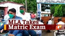 Odisha MLA Appears For 2021 Matric Offline Examination