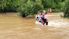 No Bridge, Villagers Cross Overflowing Canal On Foot In Odisha's Keonjhar