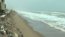 Sea Devours Parts Of Beach, Roads on Puri-Konark Coast