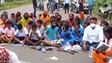 Students Hit Streets Protesting School Merger Plan In Dhenkanal