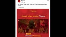 Outrage In Karnataka Over Hindu Saint's Image Used For Biryani Publicity
