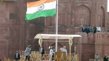 PM Modi Unfurls Tricolour At Red Fort As India Celebrates 75th Independence Day