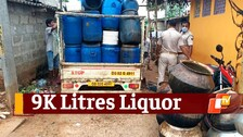 Odisha: Excise Department Seizes 9K Litres Of Country Liquor, Arrests 8 In Bhubaneswar