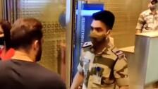 Odisha 'Real Hero' CISF Cop Stops Salman Khan For Security Check At Airport, Wins Hearts