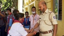 Students Celebrate Raksha Bandhan With Cops In Odisha, Share Social Message On Environment Protection