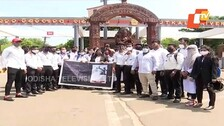 Pending Semester Exams In Offline Mode: Law Students Hold Protest Outside Utkal University