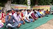 Teachers Of Unaided Schools Protest In Bhubaneswar Demanding Grant From Odisha Govt