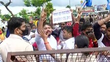 Odisha +2 Dropout, Ex-Regular Students Protest Evaluation Anomalies; Cops Foil March To Naveen Niwas