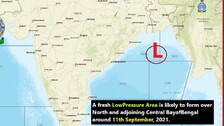 Another Low Pressure To Form Over Bay Of Bengal By September 11, Predicts IMD