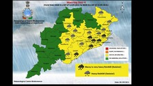 IMD Issues Heavy Rainfall Warning For 5 Odisha Districts; Low Pressure Around Sept 11