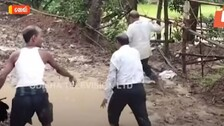 Angry Villagers In Odisha Make Two Govt Officials Walk On Muddy Road, Video Goes Viral