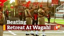 BSF Performs 'Beating Retreat' At Wagah-Attari Border In Punjab With Limited Visitors