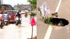 Open Drains, Manholes And Ditches Turn Death Traps For Commuters In Bhubaneswar