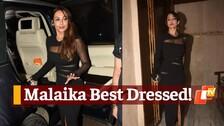 WATCH: Malaika Sizzles In A Black Dress At Manish Malhotra's Party!