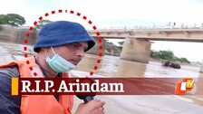OTV Reporter Arindam's Last Reporting Before Deadly Mishap