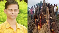 Mortal Remains Of OTV Journalist Arindam Das Consigned To Flames