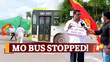 Bharat Bandh: Protestors Forcibly Stop MoBus In Bhubaneswar